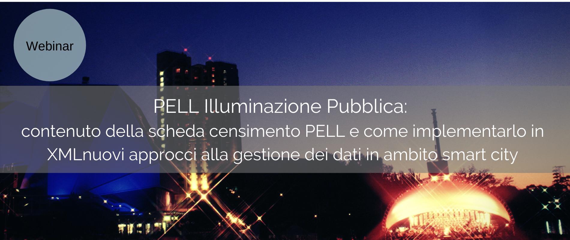PELL Illuminazione Pubblica: contenuto della scheda censimento PELL e come implementarlo in XML